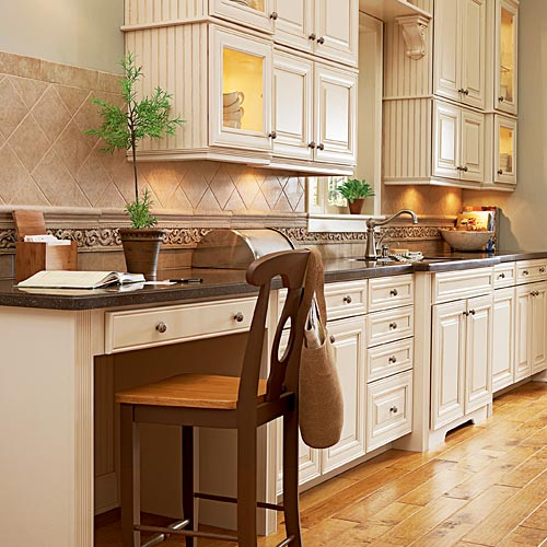 The kitchen office a creative use of space the for Creative use of space