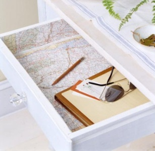 Map Lining in Drawer