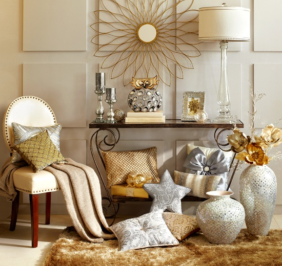 metallics interior design