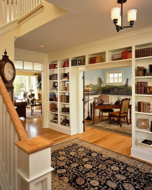 traditional bookshelf