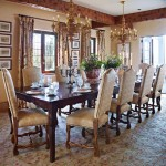 large dining room with rectangle table