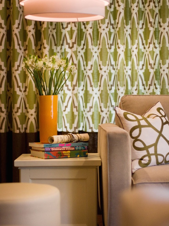 bold pattern window treatments