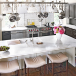 HB kitchen island with stools