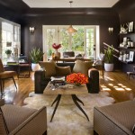 room with brown interior design