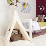 eclectic-kids room with teepee