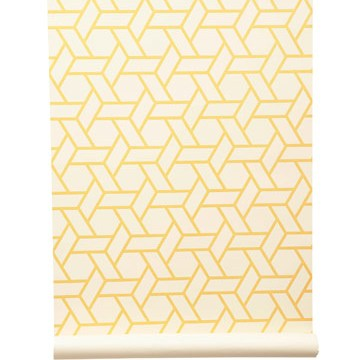 Yellow Wallpaper Brightens Any Room