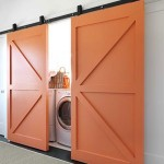 orange barn doors